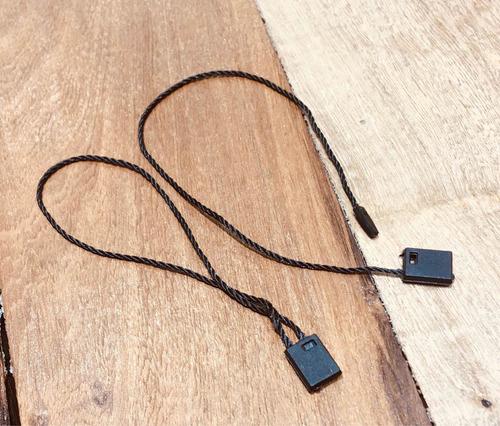 Tag Pin De Cordón Negro Para Etiquetas Para Ropa X 100u