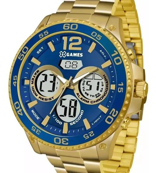 Relógio X-games Masculino Dourado Anadigi- Xmgsa005 D2kx