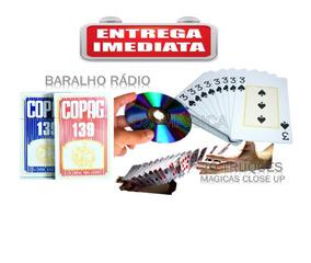Baralho Radio Faz 20 Mágicas + Instruções Dvd Truque Fácil