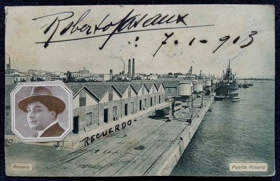Antigua Postal De Puerto Rosario. Año 1913. 37173