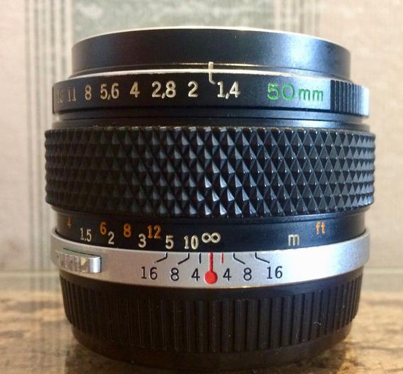 Lente Olympus 50mm F/1.4 G.zuiko Revisada Mas Com Detalhes