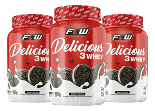 3x Delicious Whey Ftw 900g