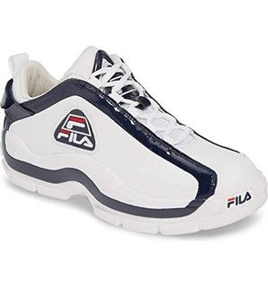 Fila 96 Zapatillas Bajas Color Blanco Azul Marino Y Rojo