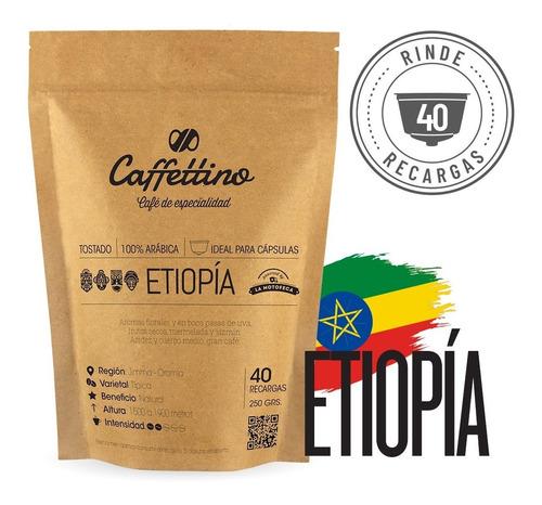 Imagen 1 de 9 de ¼kg Café De Especialidad Etiopía P/dolce (40 Usos)