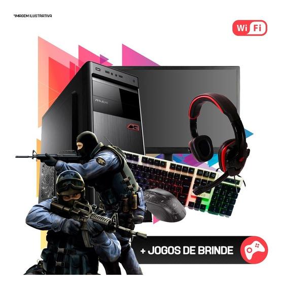 Pc Gamer Completo Strike Core 2 Quad, 8gb Ram , Hd 500gb