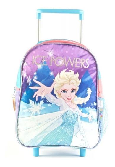 Mochila Con Carro Frozen Elsa 12 Pulgadas 88301