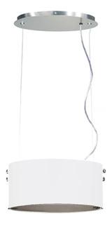 Lampara Colgante Ticar Ovale Moderno Blanco 1 Luz 150w