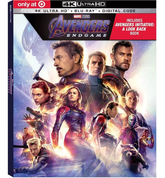 Avengers Endgame 4k + 2 Blu-ray Digibook Limitado