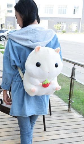 Mochila Hamster Bolsa Cute Kawaii Panda Oso Unisex Japon