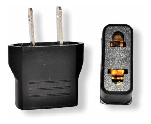 Enchufe Convertidor Corriente Europeo Ameri 110v  (6 Pack)