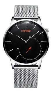 Reloj Hombre Cadisen C2029 Analógico Malla Acero Gtia 1 Año