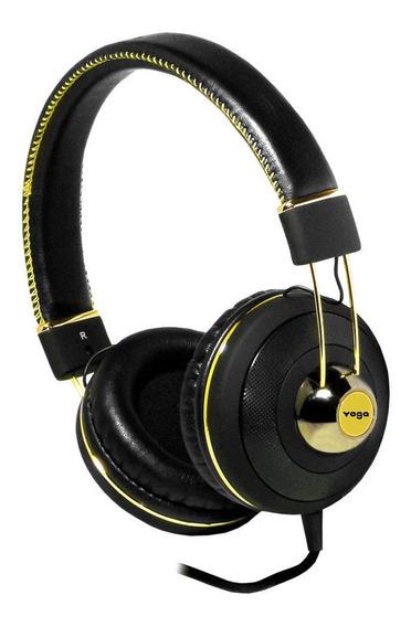 Headphone Profissional Over Ear Cd-67 Preto Dourado Teclado