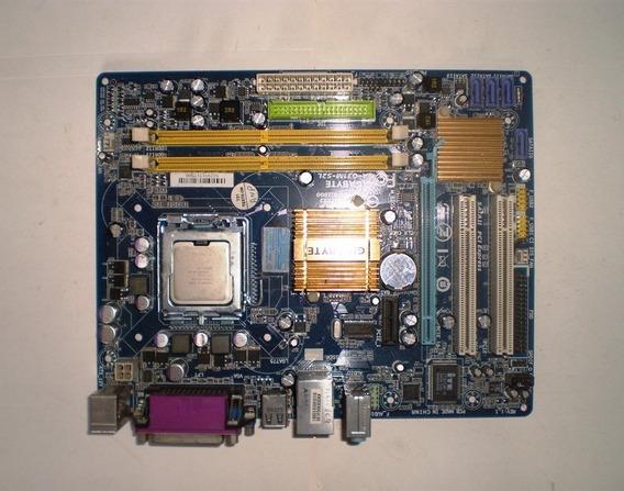 Placa Mãe Ga-g31m-s2l + Espelho + Processador + Cooler
