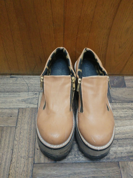 Zapatos Botas Botinetas Plataforma Color Suela Talle 38