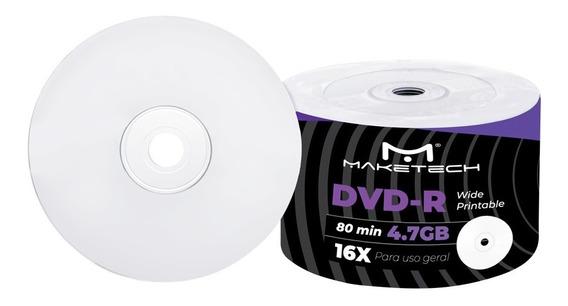 100 Dvd Maketech Printable + 100 Envelopes De Papel Visor