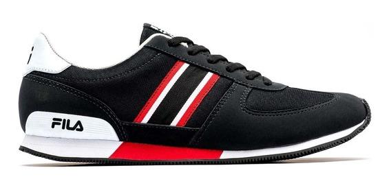 Zapatillas Moda Fila Retro Sport 2.0 Negro/rojo - Hombre