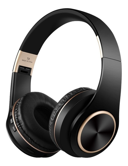 T8 Sem Fio Bluetooth Fone De Ouvido Sem Fio Over-ear Macio E