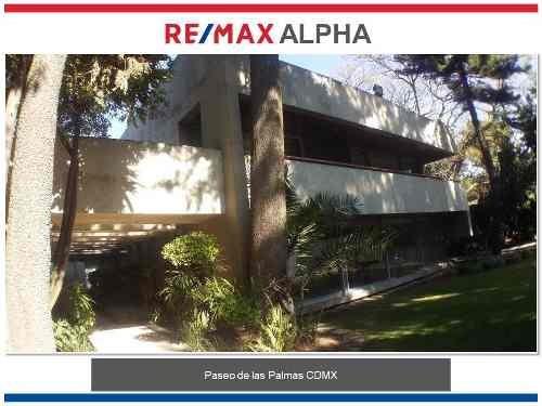 Casa En Renta Av. Paseo De Las Palmas Lomas De Chapultepec Cdmx