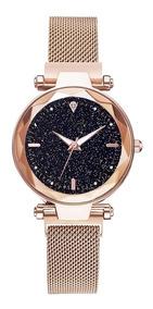 Relógio Céu Estrelado Pulseira Magnético Feminino