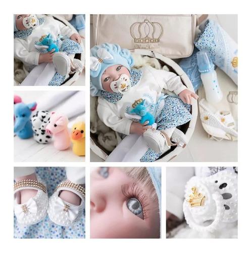 Imagem 1 de 6 de Bebê Reborn Barata Promoção Mamadeira Chupeta - 17 Itens