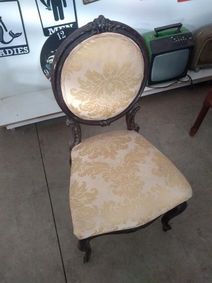 Cadeira Decorativa Em Madeira Nobre