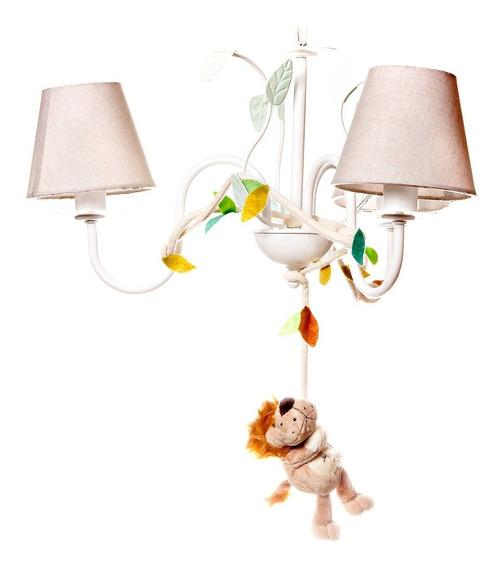 Lustre Luminária Floresta Safari Selva Quarto Bebê Infantil