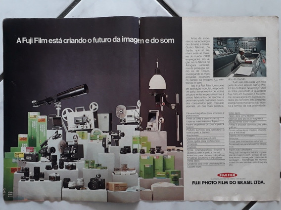 Propaganda Antiga Câmeras Fotograficas Fuji Film Anúncio Pub