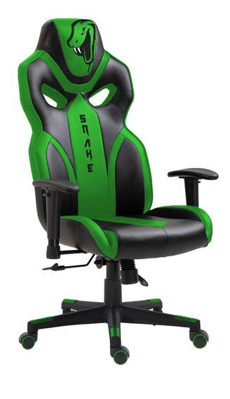 Cadeira Gamer Python Snake Gaming Reclinável 021 - Verde