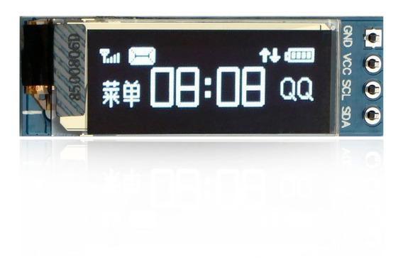 Display Oled 0.91 Arduino 128x32 I2c Ssd1306