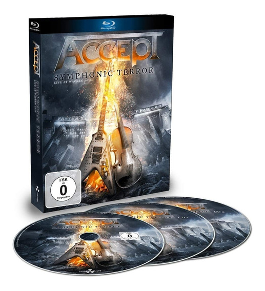 Accept Symphonic Terror - Live At Wacken 2017 Blu Ray 02 Cds