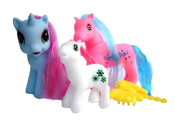 3 Pony Juguete Unicornio Equestria Ponys Niña Muñeca Fabans