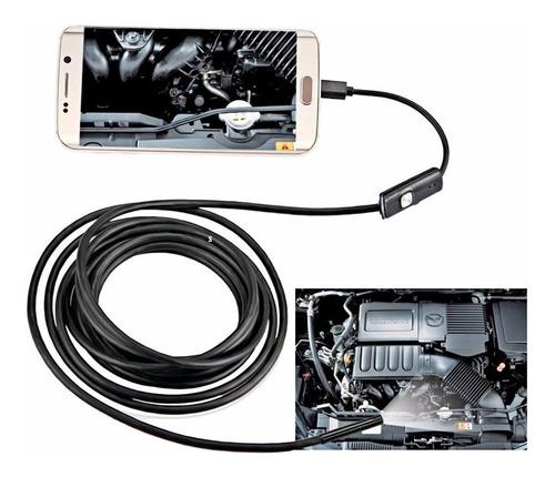 Imagem 1 de 5 de Camera Inspeção Endoscópica Android 5m Sonda 6 Led