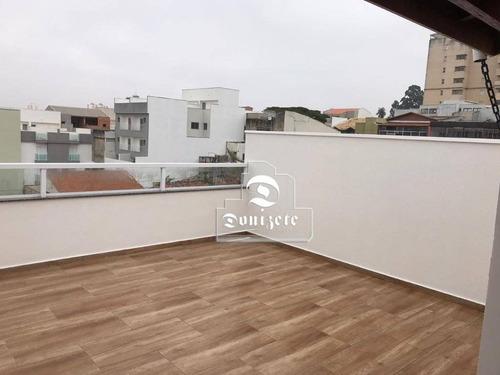 Cobertura À Venda, 90 M² Por R$ 419.000,00 - Jardim - Santo André/sp - Co10936