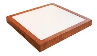 Panel Plafon Led 24w Simil Madera Deco Moderno 30x30