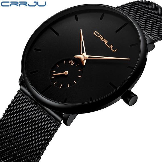 Relógio Crrju Original Fino Charmoso Elegante Pronta Entrega