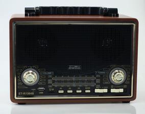 Rádio Retro Vintage Usb Bluetooth Am Fm Sw Bateria Interna