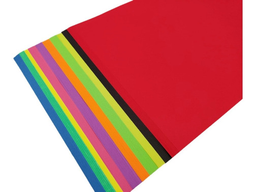 Imagen 1 de 5 de Hojas De Color X Ciento 10 Colores Neòn
