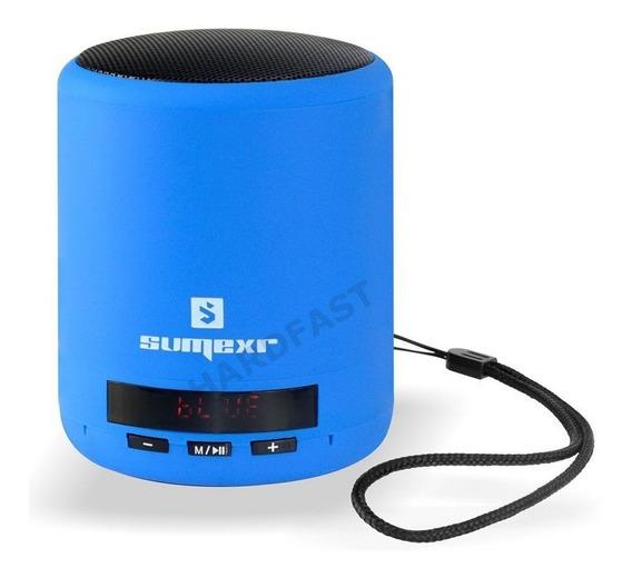 Caixa Som Sem Fio Sumexr Fm Bass Pen Drive Azul Top