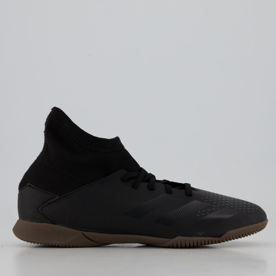 Chuteira adidas Predator 20.3 In Futsal Juvenil Preta