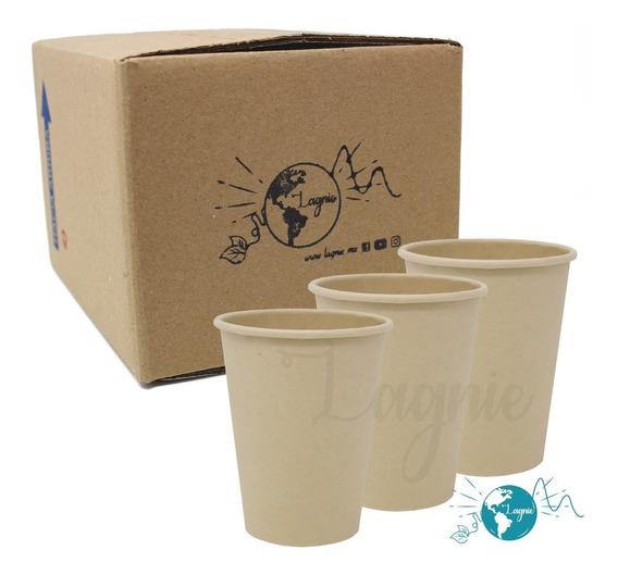Lagnie 50 Vasos Bambú Biodegradables 12 Oz, 340 Mililitros