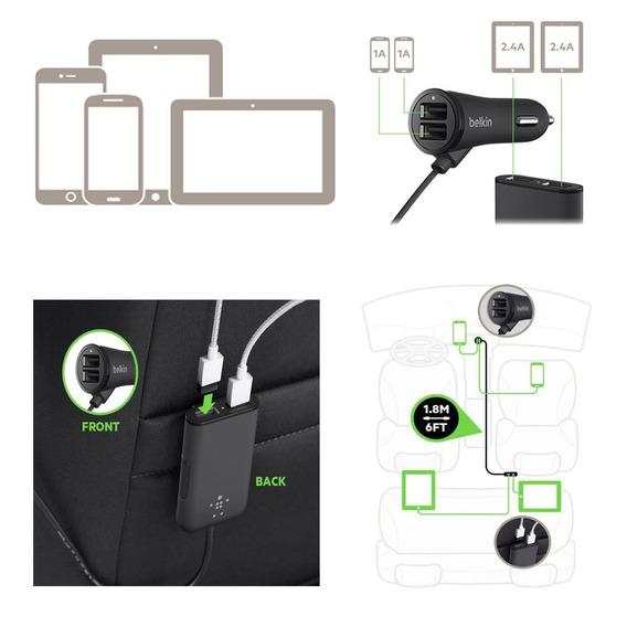 Phones 7.2a 4-port Usb Car Charger Multiple Expander Car-ch