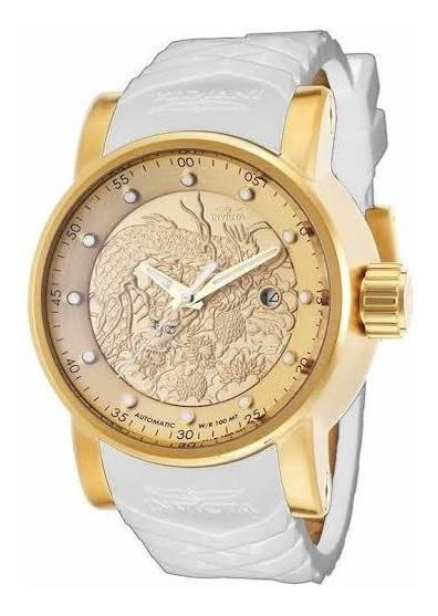 Relógio Invicta Yakuza Banhado A Ouro 18k