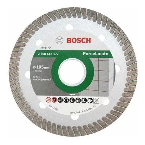 Disco Diamantado Turbo 2608615177 105mm P/ Porcelanato Bosch