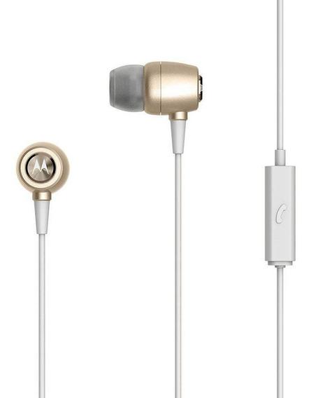 Fone De Ouvido Motorola Earbuds Metal Intra-auricular Gold