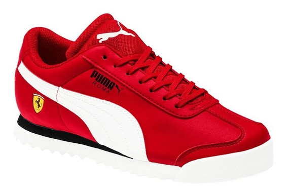 Tenis Casuales Puma Sf Roma Jr Rojo Niño 830679 Original