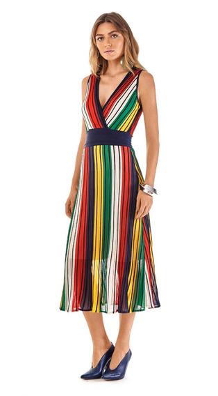 Vestido Feminino Midi Transpassado Morena Rosa Ref 107352