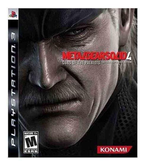 Metal Gear Solid 4 Ps3 Midia Fisica Novo Lacrado