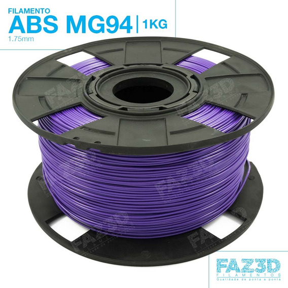 Filamento Abs Mg94 Premium 1.75mm - 1kg - Impressora 3d - Nf