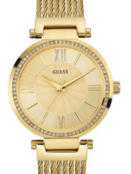 Relógio Feminino Guess 92580lpgdda2 Analógico Dourado