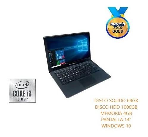 Portátil Speedmind Intel Core I3 10ma 1tb Hdd+64 Gb Ssd/4gb